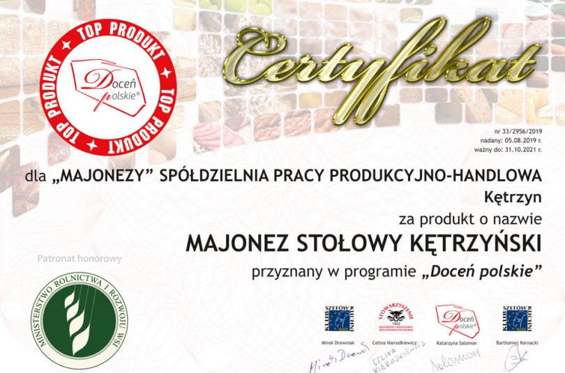 """Majonezy z godłem jakości programu """"Doceń polskie"""""""