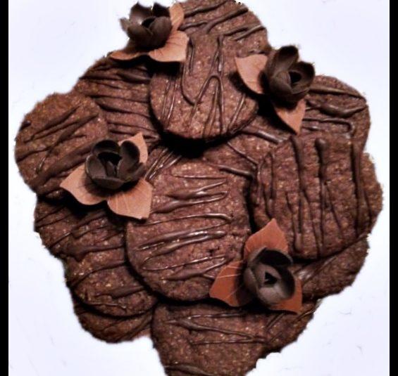 Czekoladowe ciasteczka  z ciasta kruchego