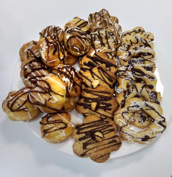 Ciasteczka kruche o smaku orzechowym i kokosowym