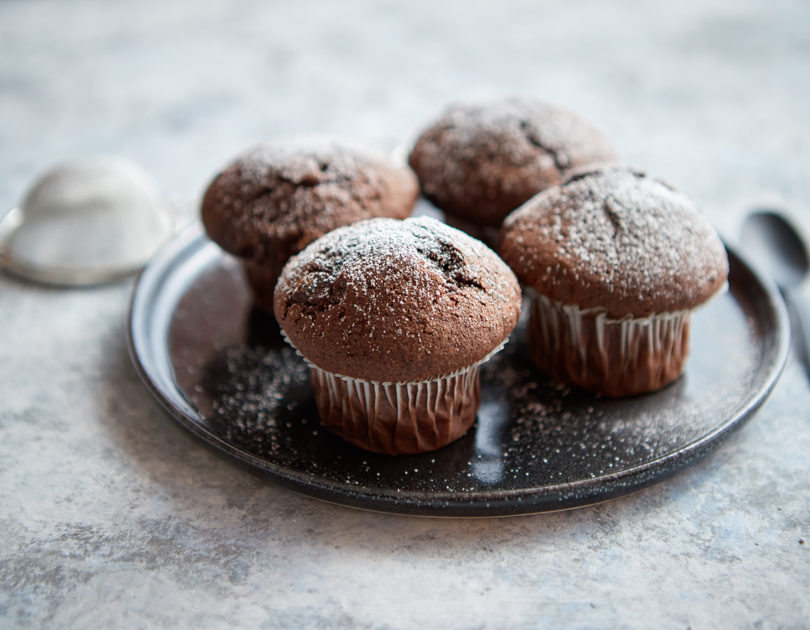 Muffinki piernikowe z marmoladą
